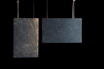 prostokątne kamienne lampy z płytek - grafit