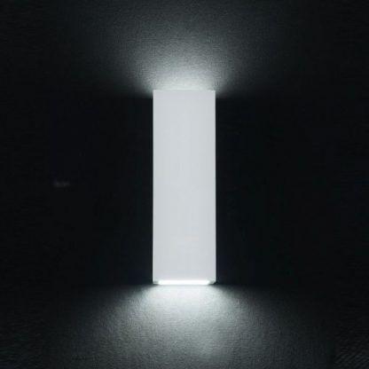 prostokątny kinkiet biały gipsowy - nowoczesny