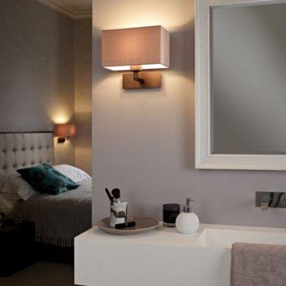 prostokatny klasyczny kinkiet do łazienki w sypialni