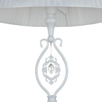 prowansalska lampa stołowa z kryształem w podstawie