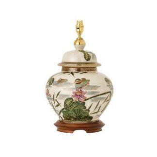 ręcznie malowana ceramiczna lampa stołowa