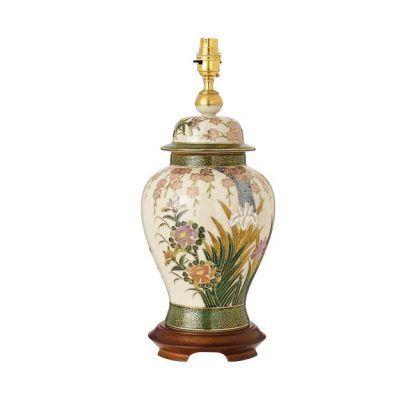 ręcznie malowana lampa stołowa z ceramiki