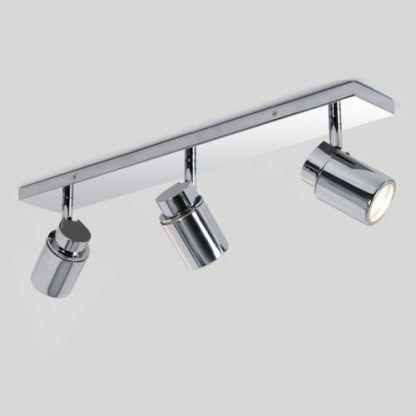 reflektor sufitowy potrójny srebrny nowoczesny