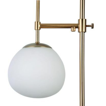 Regulowane ramię lampa podłogowa złota szklana