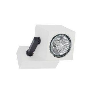 regulowany biały reflektor z czarnymi detalami