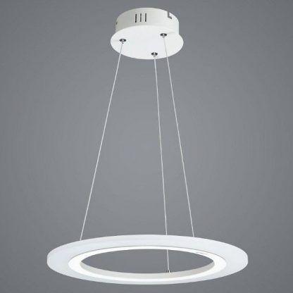 ring led - lampa wisząca na stalowych linkach nad stół