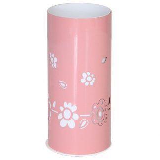 Różowa lampa w białe kwiaty do pokój dziecka