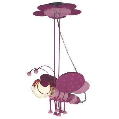 różowa lampa wisząca motyl pokój dziewczynki