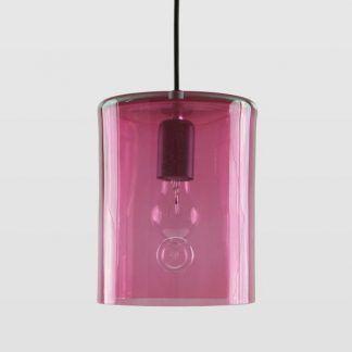 różowa lampa wisząca ze szkła pokój dziewczynki