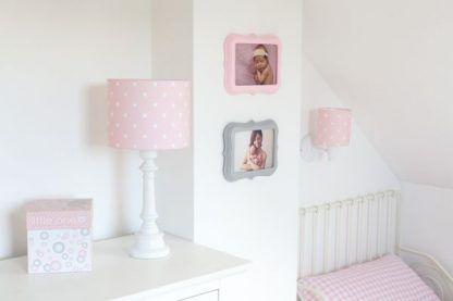 różowe lamki nocne do pokoju dziewczynki - inspiracje