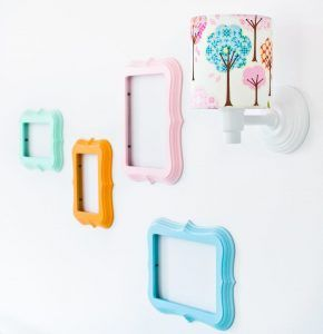 różowo niebieski kinkiet dziecięcy na ścianę