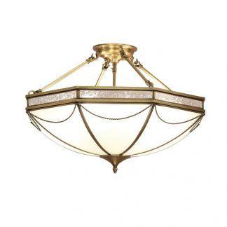 russell duża lampa sufitowa ze szklanym kloszem
