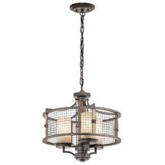 rustykalna lampa wisząca do salonu