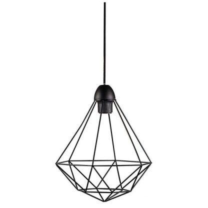 skandynawska lampa wisząca z czarnych prętów