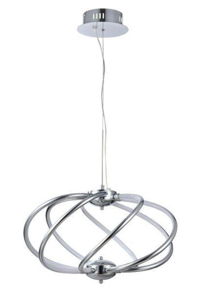 Spiralny kształt klosza lampy wiszącej Venus