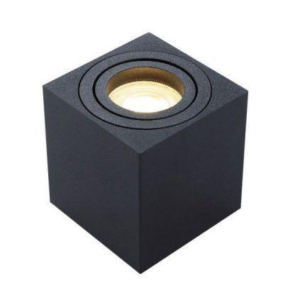 spot led - downlight w kształcie kwadratu - czarny