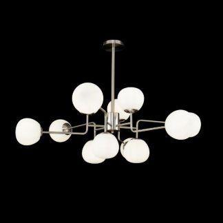 srebra lampa wisząca molekularna białe klosze