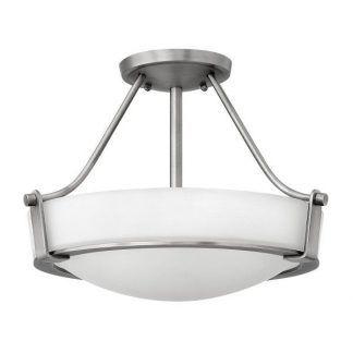 Srebrna lampa do kuchni ze szklanym kloszem