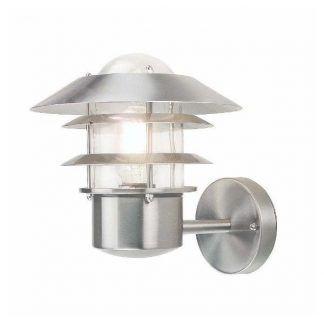 Srebrna lampa latarnia zewnętrzna
