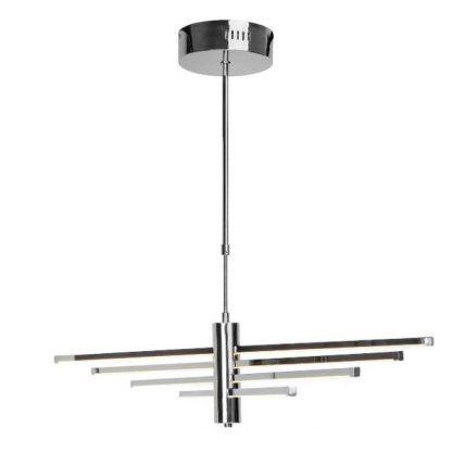 srebrna lampa wisząca do salonu nowoczesna