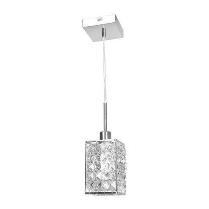 srebrna lampa wisząca glamour kryształowa