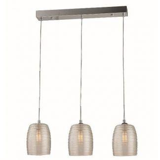 srebrna lampa wisząca nad stół nowoczesna
