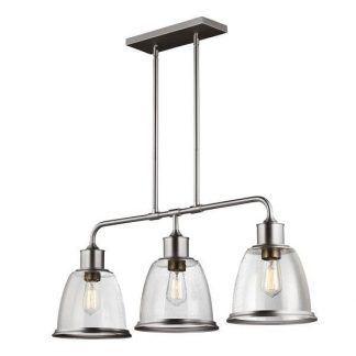 srebrna lampa wisząca nad stół szklane klosze