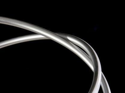 srebrna lampa wisząca nowoczesna moduł led