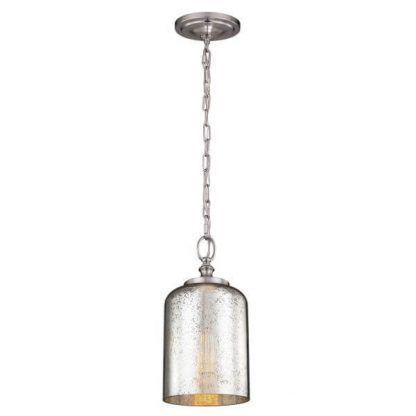 srebrna lampa wisząca szklany klosz ze szronem