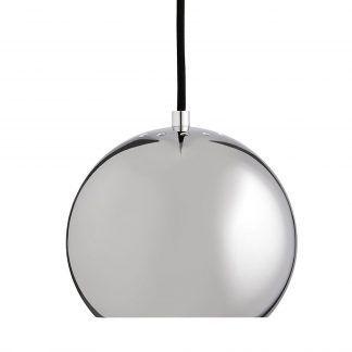Srebrna lampa wisząca w kształcie kuli - Frandsen