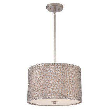 srebrna lampa wisząca z mozaiką modern classic