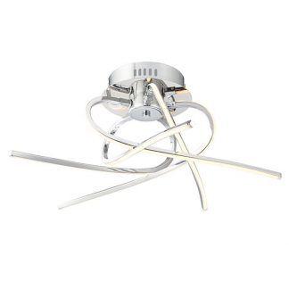 srebrna ledowa lampa sufitowa z prętów