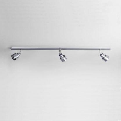 srebrna nowoczesna lampa sufitowa z regulacją kloszy
