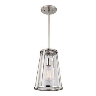 srebrna szklana lampa wisząca retro - jasna chromowana
