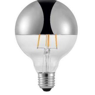 srebrna żarówka pomalowana do lampy wiszącej własnej roboty