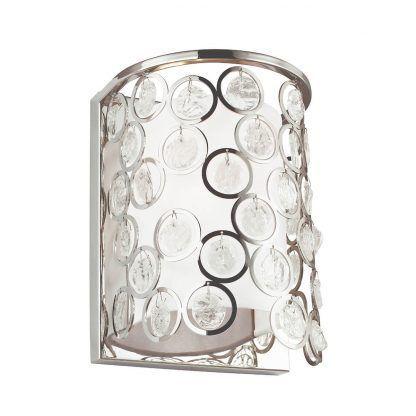 Srebrne abażur okręgi z kryształkami do sypialni