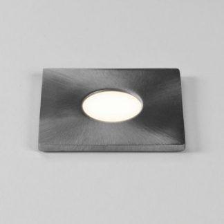 srebrne kwadratowe oczko led - nowoczesne