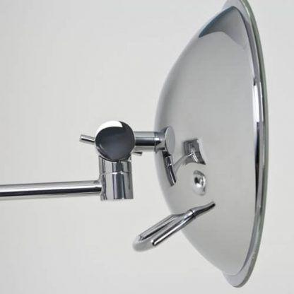 srebrne lustro łazienkowe na wysięgniku małe