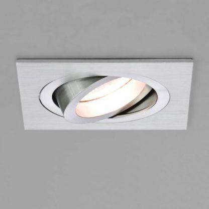 srebrne regulowane oczko sufitowe do salonu