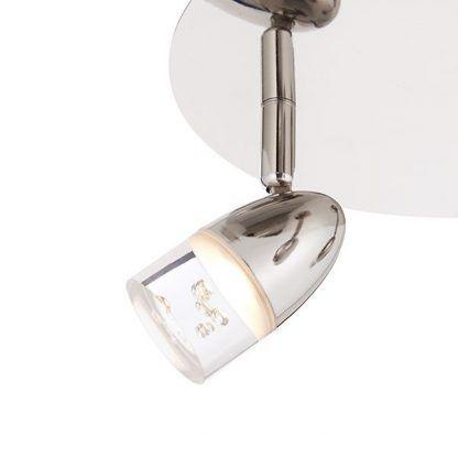 Srebrne wykończenie punku światła lampy do salonu