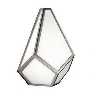 srebrno biała lampa z ramkami
