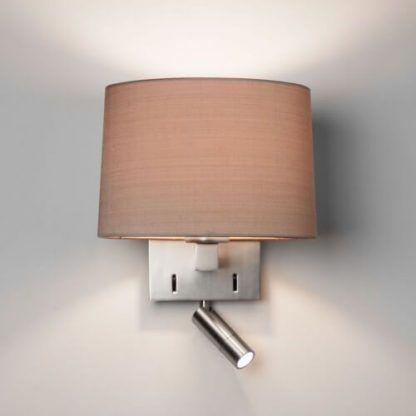 srebrny kinkiet do sypialni dodatkowy reflektor