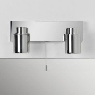 srebrny kinkiet nowoczesny dwa reflektory chrom
