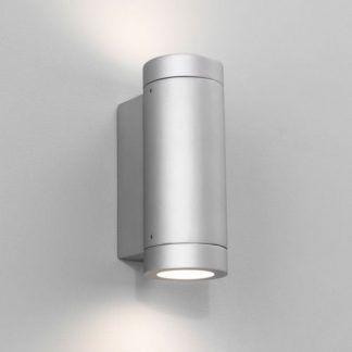 srebrny kinkiet tuba - nowoczesny góra i dół