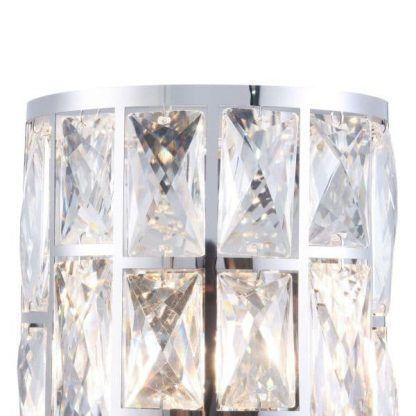 srebrny kinkiet z kryształkami glamour