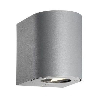 srebrny kinkiet zewnętrzny na elewację budynku - szary IP