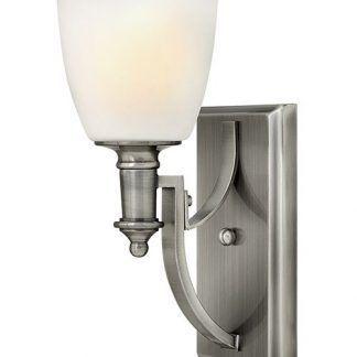 srebrny nowoczesny kinkiet szklany do korytarza i salonu