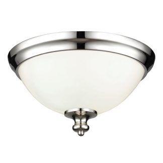 srebrny plafon do łazienki - szklany nowoczesny