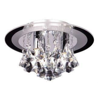 srebrny plafon z kryształkami do salonu glamour
