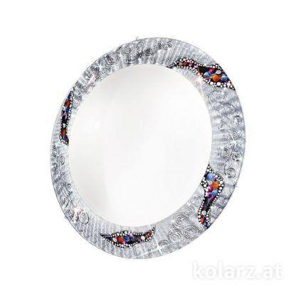srebrny plafon z prawdziwymi kryształami